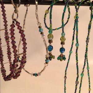 Jewelry - Vintage tiny glass bead flapper necklace bracelet